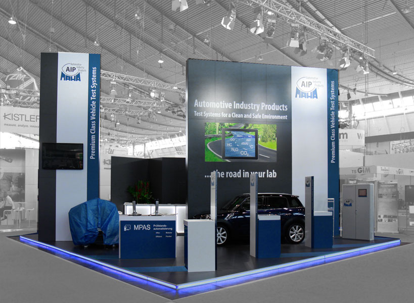 Messestande MAHA-AIP zur Automotive Testing Expo Europe