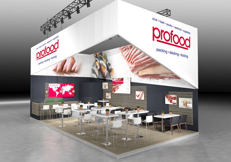 Visualisierung Messestand ProFood