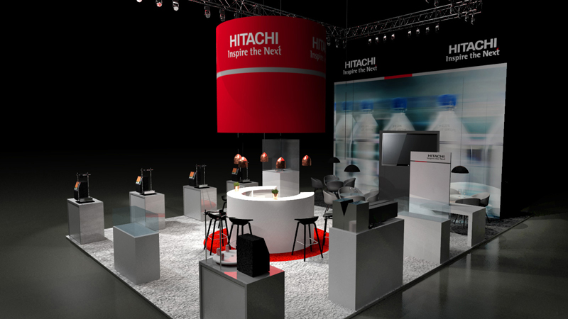 Visualisierung Messestand Hitachi