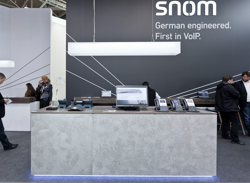 Messestand SNOM zur Cebit 2015