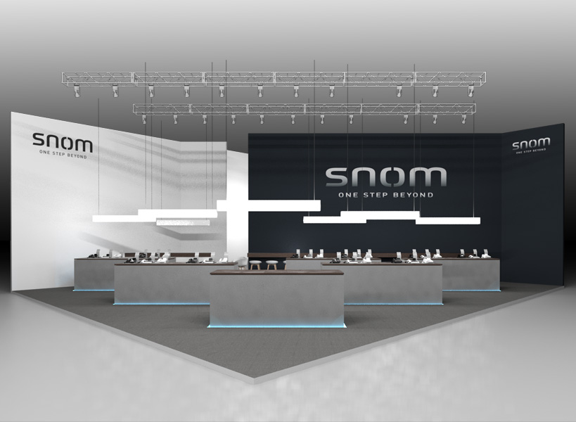 Visualisierung Messestand SNOM zur Cebit 2015